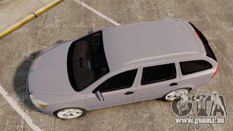 Skoda Octavia RS Unmarked Police [ELS] für GTA 4 rechte Ansicht
