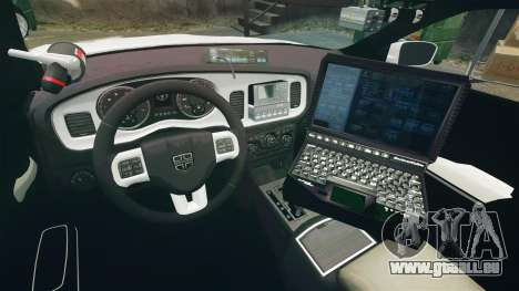 Dodge Charger RT 2012 Slicktop Police [ELS] für GTA 4 Rückansicht