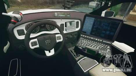 Dodge Charger RT 2012 Unmarked Police [ELS] für GTA 4 Rückansicht