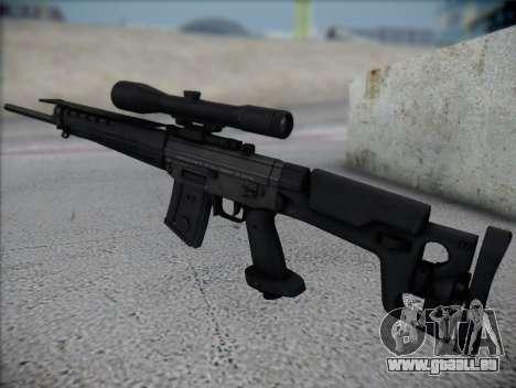 Fusil de sniper HD pour GTA San Andreas deuxième écran