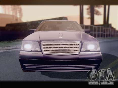 Mercedes-Benz S600 V12 V1.2 pour GTA San Andreas vue intérieure