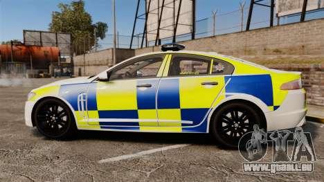 Jaguar XFR 2010 Police Marked [ELS] für GTA 4 linke Ansicht