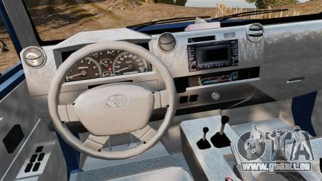 Toyota Land Cruiser 70 2013 pour GTA 4 Vue arrière