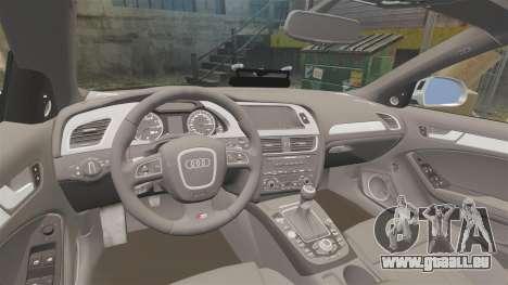 Audi S4 Unmarked Police [ELS] für GTA 4 Seitenansicht