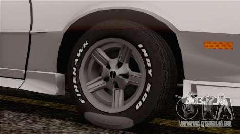 Chevrolet Camaro IROC-Z 1989 FIXED für GTA San Andreas zurück linke Ansicht
