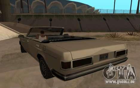 Admiral Cabrio für GTA San Andreas zurück linke Ansicht