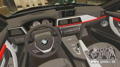 BMW F30 328i Metropolitan Police [ELS] pour GTA 4 est un côté