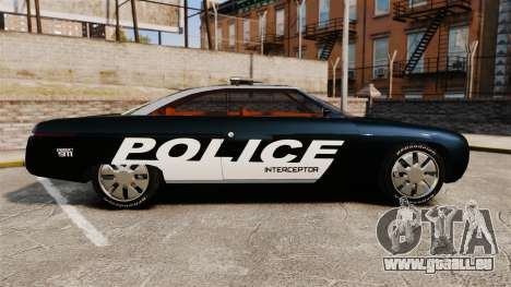 Ford Forty Nine Concept 2001 Police [ELS] für GTA 4 linke Ansicht