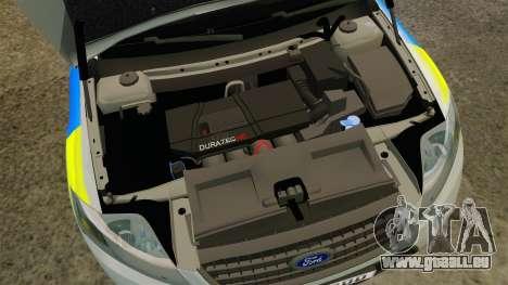 Ford Mondeo Metropolitan Police [ELS] für GTA 4 Innenansicht
