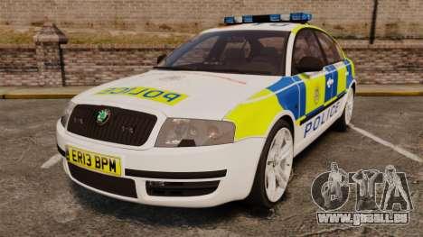 Skoda Superb 2006 Police [ELS] Whelen Edge pour GTA 4
