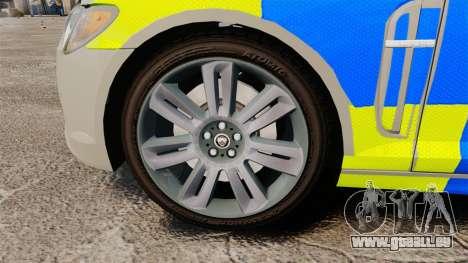 Jaguar XFR 2010 West Midlands Police [ELS] für GTA 4 Rückansicht