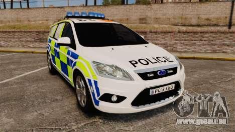 Ford Focus Estate 2009 Police England [ELS] pour GTA 4