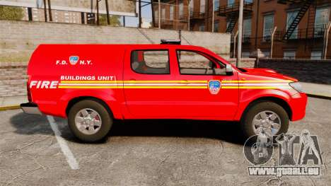 Toyota Hilux FDNY [ELS] pour GTA 4 est une gauche