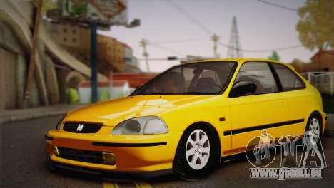 Honda Civic 1.4is TMC pour GTA San Andreas laissé vue