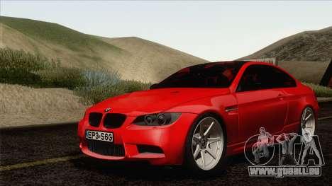 BMW M3 E92 2008 Vossen pour GTA San Andreas