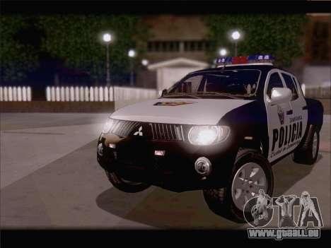 Mitsubishi L200 POLICIA pour GTA San Andreas laissé vue
