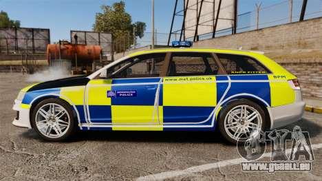 Audi RS6 Avant Metropolitan Police [ELS] für GTA 4 linke Ansicht