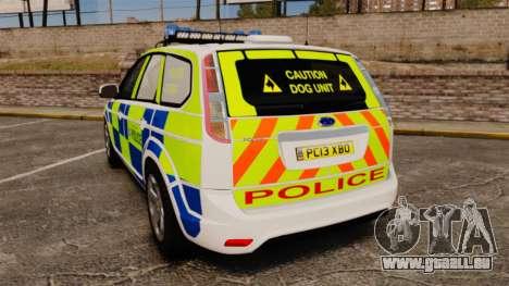Ford Focus Estate 2009 Police England [ELS] pour GTA 4 Vue arrière de la gauche