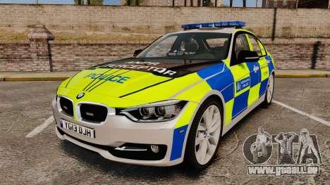 BMW F30 328i Metropolitan Police [ELS] für GTA 4
