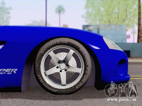 Dodge Viper SRT-10 Coupe pour GTA San Andreas vue de droite