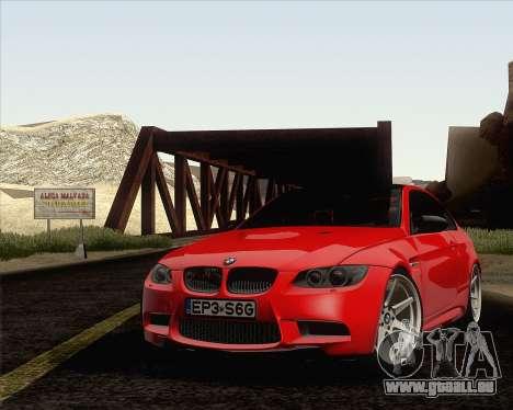 BMW M3 E92 2008 Vossen pour GTA San Andreas salon