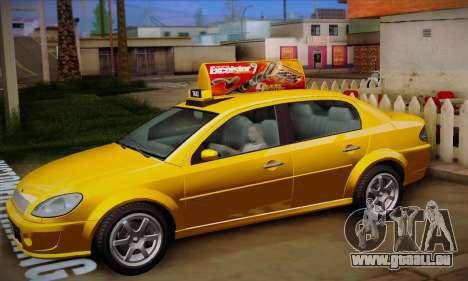 Declasse Premier Taxi pour GTA San Andreas vue intérieure