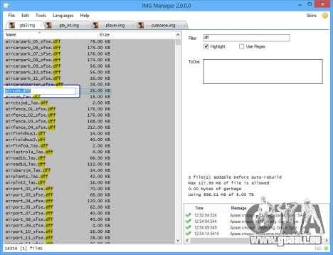 IMG Manager 2.0 pour GTA San Andreas troisième écran