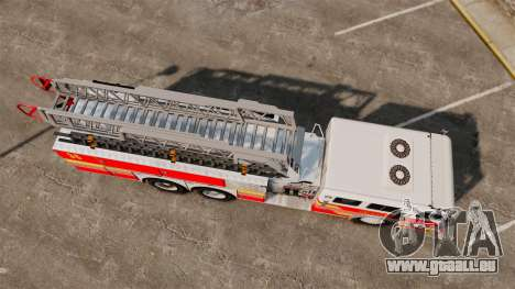 MTL Firetruck MDH1000 LCFR [ELS] pour GTA 4 Vue arrière de la gauche