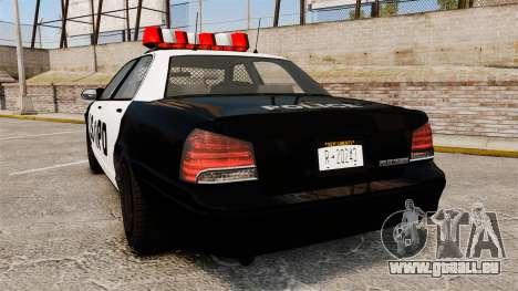 GTA V Vapid Police Cruiser LSPD pour GTA 4 Vue arrière de la gauche