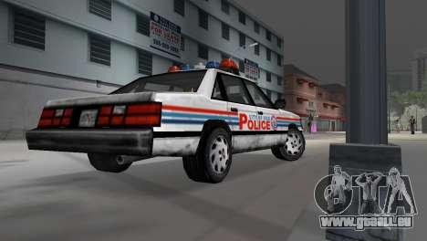 BETA Police Car pour GTA Vice City sur la vue arrière gauche