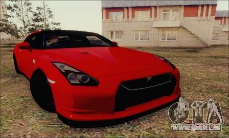 Nissan GT-R Spec V pour GTA San Andreas vue intérieure