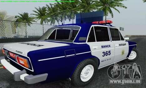 VAZ 2106 Police pour GTA San Andreas vue de dessous