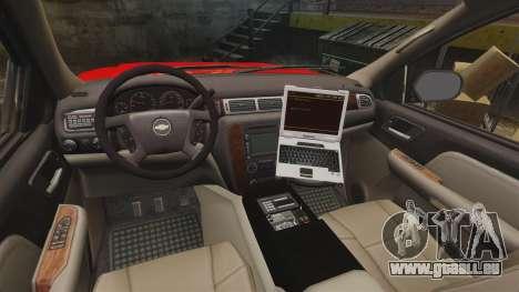 Chevrolet Tahoe Fire Chief v1.4 [ELS] pour GTA 4 Vue arrière