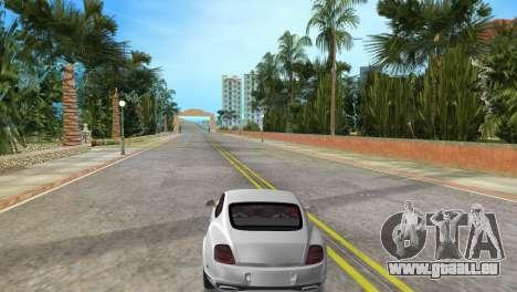 Bentley Continental Extremesports pour GTA Vice City sur la vue arrière gauche