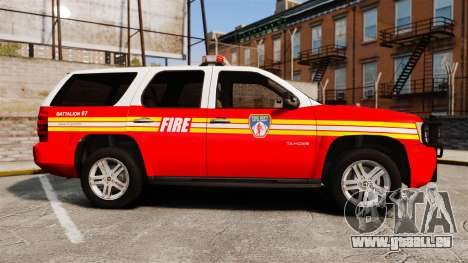 Chevrolet Tahoe Fire Chief v1.4 [ELS] für GTA 4 linke Ansicht