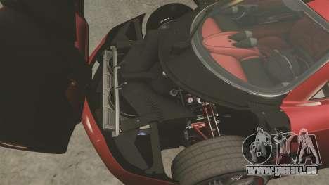 Pagani Huyara [EPM] pour GTA 4 est une vue de l'intérieur