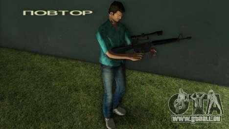 M-16 avec un fusil de Sniper GTA Vice City pour la deuxième capture d'écran