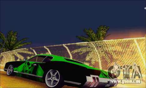 Modified Sabre Low für GTA San Andreas zurück linke Ansicht