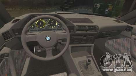 BMW M5 E34 pour GTA 4 Vue arrière