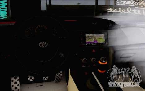 Toyota GT86 Lowstance für GTA San Andreas rechten Ansicht