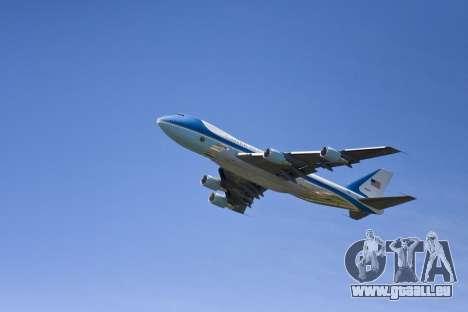 Boeing-747-400 Airforce one pour GTA San Andreas moteur