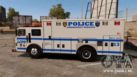 Hazmat Truck LCPD [ELS] pour GTA 4 est une gauche