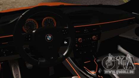 BMW M3 E92 2008 Vossen pour GTA San Andreas vue intérieure
