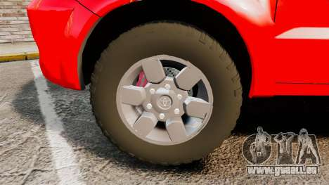 Toyota Hilux British Rapid Fire Cover [ELS] pour GTA 4 Vue arrière
