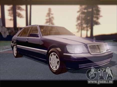 Mercedes-Benz S600 V12 V1.2 pour GTA San Andreas vue de côté