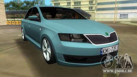 Skoda Rapid 2013 pour GTA Vice City