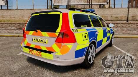 Volvo V70 Metropolitan Police [ELS] für GTA 4 hinten links Ansicht