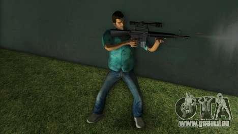 M-16 avec un fusil de Sniper pour GTA Vice City