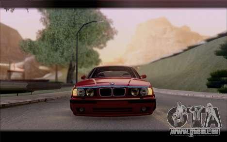 BMW E34 für GTA San Andreas Innenansicht