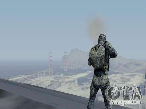 Nano-combinaison coréen de Crysis pour GTA San Andreas sixième écran